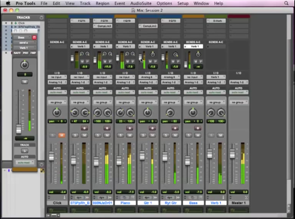 Pro Tools Basics Lesson 12 – Auxiliaries and Reverb (12 of 13 ...