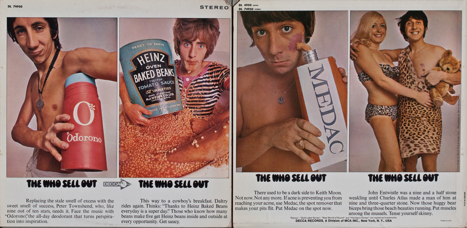 'Sell Out' Album by 60s Rock Band 'The Who' - The inside features satirical images about selling out.